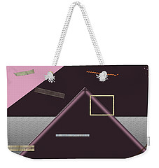 Weekender Tote Bag featuring the photograph Floating Strips by Tina M Wenger