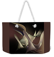 Weekender Tote Bag featuring the digital art Flock  20 by Iris Gelbart