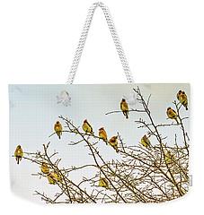 Flock Of Cedar Waxwings  Weekender Tote Bag
