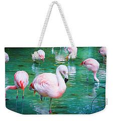 Flock Of Flamingos Weekender Tote Bag