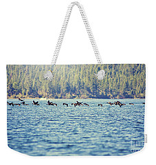 Flock Of Geese Weekender Tote Bag