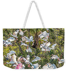 Flock Of Mixed Birds Taking Off Weekender Tote Bag