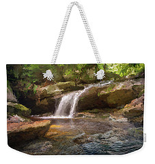 Flooded Waterfall In The Forest Weekender Tote Bag