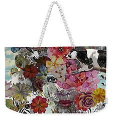 Weekender Tote Bag featuring the digital art Flora And Fauna by Nola Lee Kelsey
