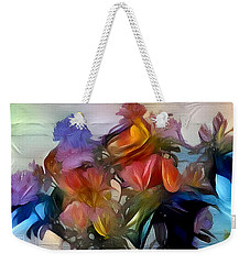 Floral Abstract Weekender Tote Bag by Jim Pavelle