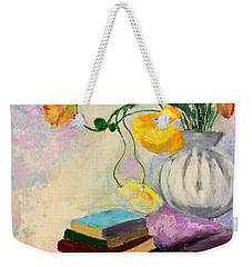 Floral Abstract Weekender Tote Bag