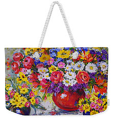 Floral Abundance Weekender Tote Bag