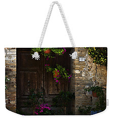 Floral Adorned Doorway Weekender Tote Bag by Marilyn Hunt