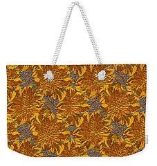 Weekender Tote Bag featuring the digital art Floral Adornment by Asok Mukhopadhyay