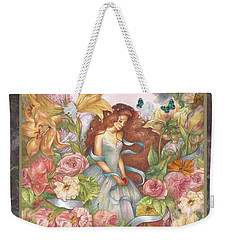 Floral Angel Glamorous Botanical Weekender Tote Bag