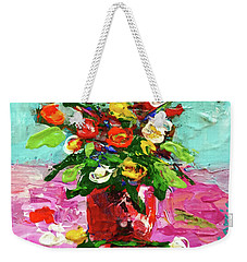 Floral Arrangement Weekender Tote Bag