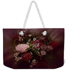 Weekender Tote Bag featuring the photograph Floral Arrangement No. 4 by Richard Cummings