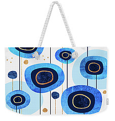 Floral Blues Weekender Tote Bag by Elisabeth Fredriksson