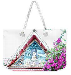 Floral Buddha Weekender Tote Bag