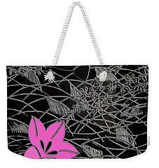 Floral Chirimen Weekender Tote Bag by Asok Mukhopadhyay