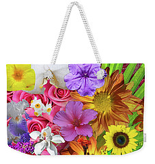 Floral Collage 01 Weekender Tote Bag
