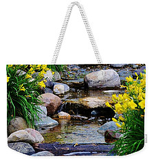 Floral Creek Weekender Tote Bag