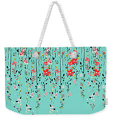 Floral Dilemma Weekender Tote Bag by Uma Gokhale