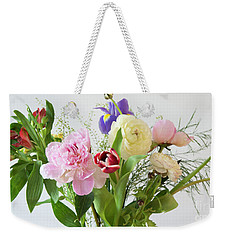 Weekender Tote Bag featuring the photograph Floral Display by Wendy Wilton