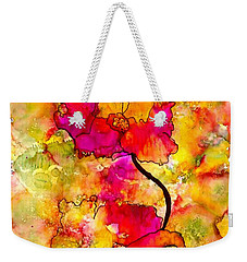 Floral Duet Weekender Tote Bag by Angela L Walker