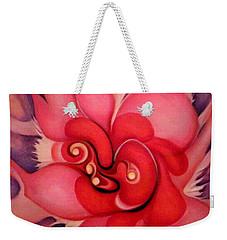 Floral Energies Weekender Tote Bag