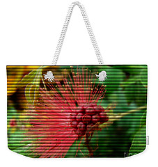 Floral Fan Weekender Tote Bag by Sue Melvin