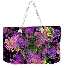 Weekender Tote Bag featuring the digital art Floral Fancy Abstract by Andee Design