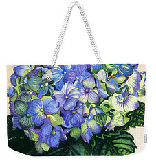 Weekender Tote Bag featuring the painting Floral Favorite by Barbara Jewell