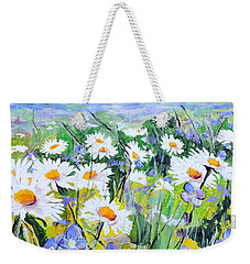 Floral Field Weekender Tote Bag by Jodie Marie Anne Richardson Traugott          aka jm-ART