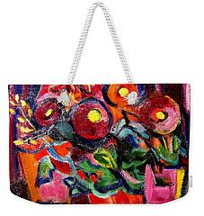 Floral Fiesta With Hola Weekender Tote Bag