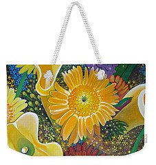 Floral Fireworks Weekender Tote Bag