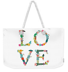 Floral Love Letters Weekender Tote Bag