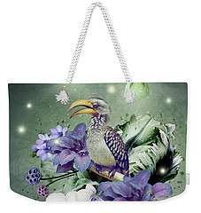 Floral Magic Hornbill Weekender Tote Bag