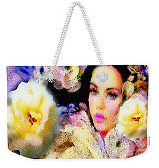 Floral Mosaic She In Thick Paint Weekender Tote Bag