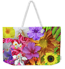 Floral Multitude Weekender Tote Bag