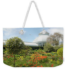Weekender Tote Bag featuring the photograph Floral Notes by Diana Angstadt