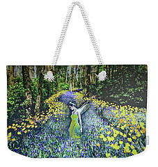 Floral Path Weekender Tote Bag