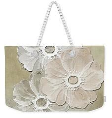 Weekender Tote Bag featuring the digital art Floral Pattern by Judy Hall-Folde