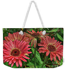 Weekender Tote Bag featuring the photograph Floral Pink by Deborah Benoit