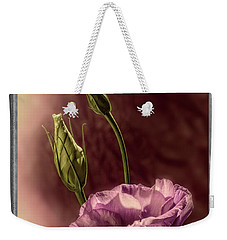 Floral Polaroid Transfer Weekender Tote Bag by Garry McMichael