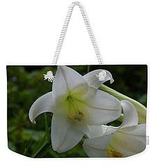 Weekender Tote Bag featuring the painting Floral Print 098 by Chris Flees
