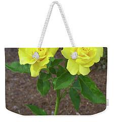 Weekender Tote Bag featuring the painting Floral Print 101 by Chris Flees