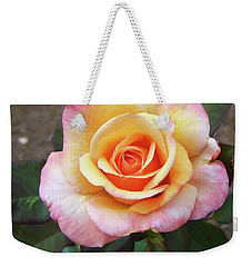 Weekender Tote Bag featuring the painting Floral Print 108 by Chris Flees