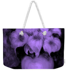 Floral Puffs In Purple Weekender Tote Bag