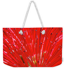 Floral Red Weekender Tote Bag