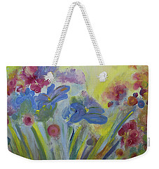 Weekender Tote Bag featuring the painting Floral Splendor by Stacey Zimmerman