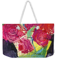 Floral Still Life Red Roses Weekender Tote Bag