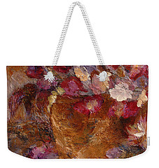 Floral Still Life Pinks Weekender Tote Bag by Claire Bull