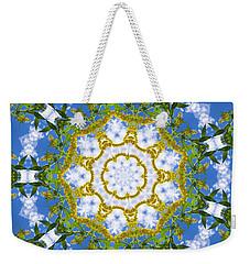 Weekender Tote Bag featuring the digital art Floral Sun by Shawna Rowe