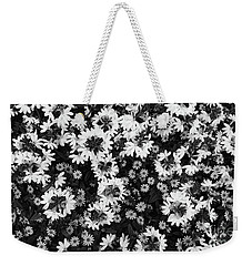 Floral Texture In Black And White Weekender Tote Bag